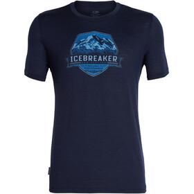Icebreaker Tech Lite Cook Crest SS Crewe Shirt Herre midnight navy